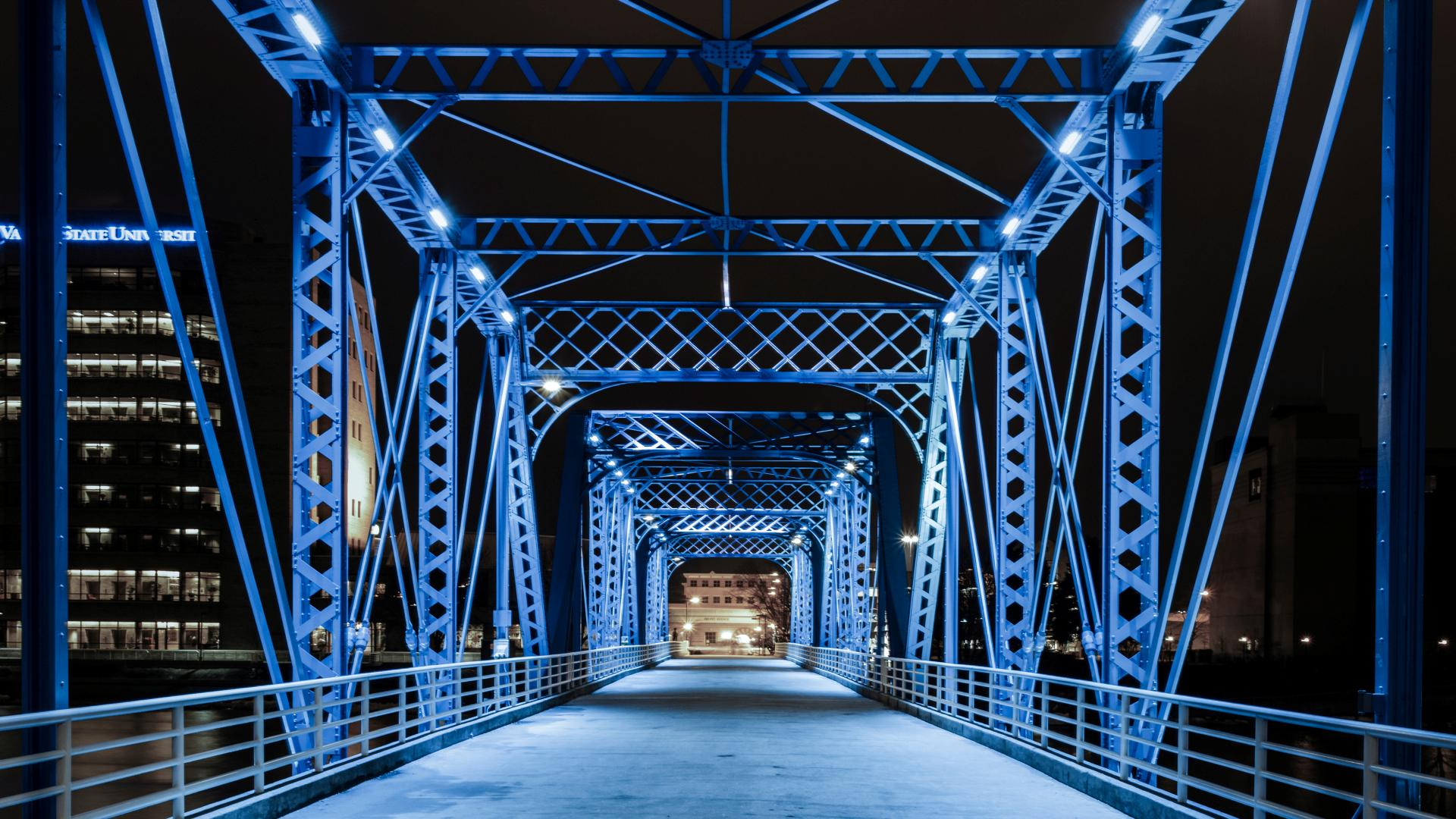 Magical Blue Bridge Grand Rapids