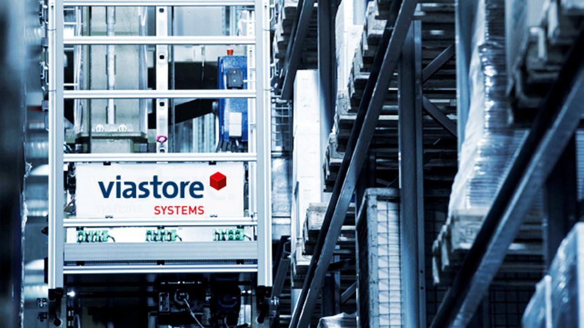 viastore storage and retrieval machines in the pallet warehouse at Orochemie, Chemical Industry