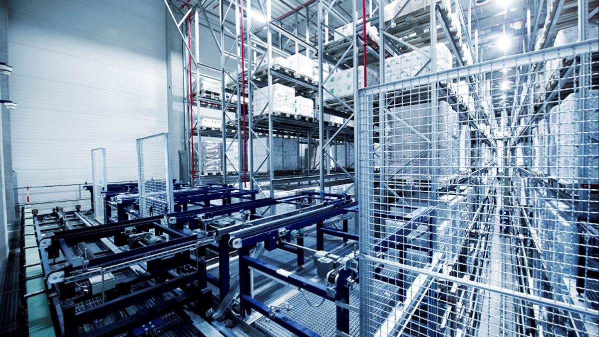 Automated pallet warehouse from viastore at Orochemie, Chemical Industry