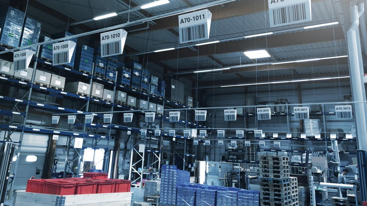 viastore pallet storage with WMS viadat at Verbindungselemente Engel, Retail