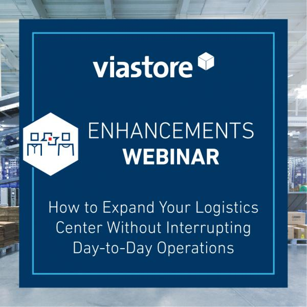Logo viastore US Webinar Enhancement, Expand Logistics Center